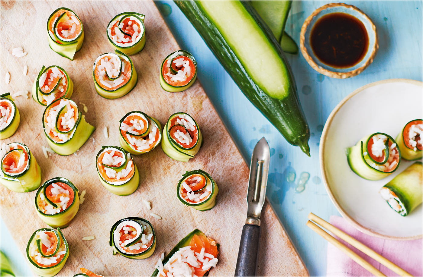 Inside-out sushi rolls recipe