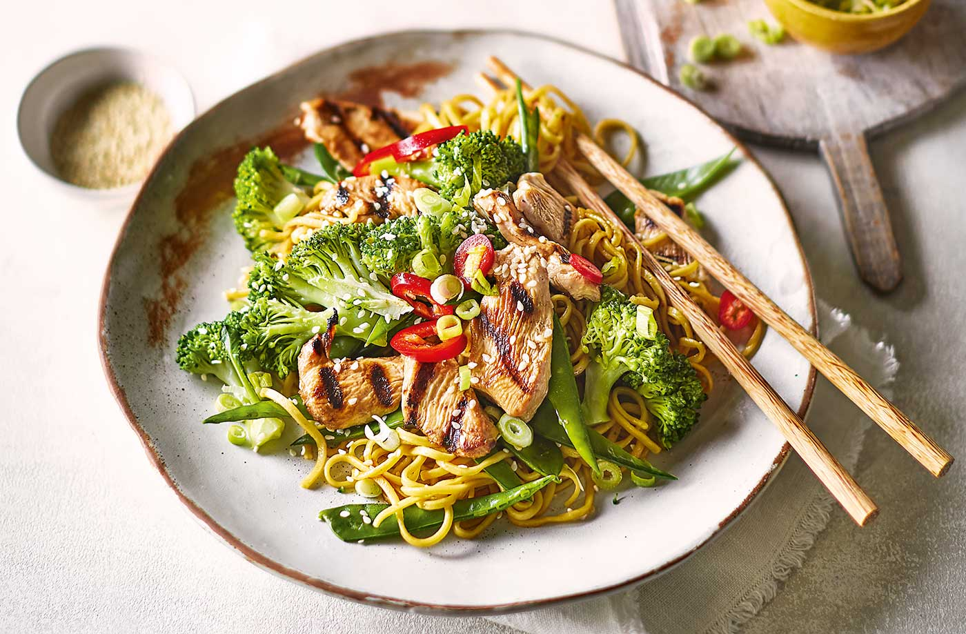 Teriyaki Chicken Noodles Recipe Japanese Recipes Tesco Real Food