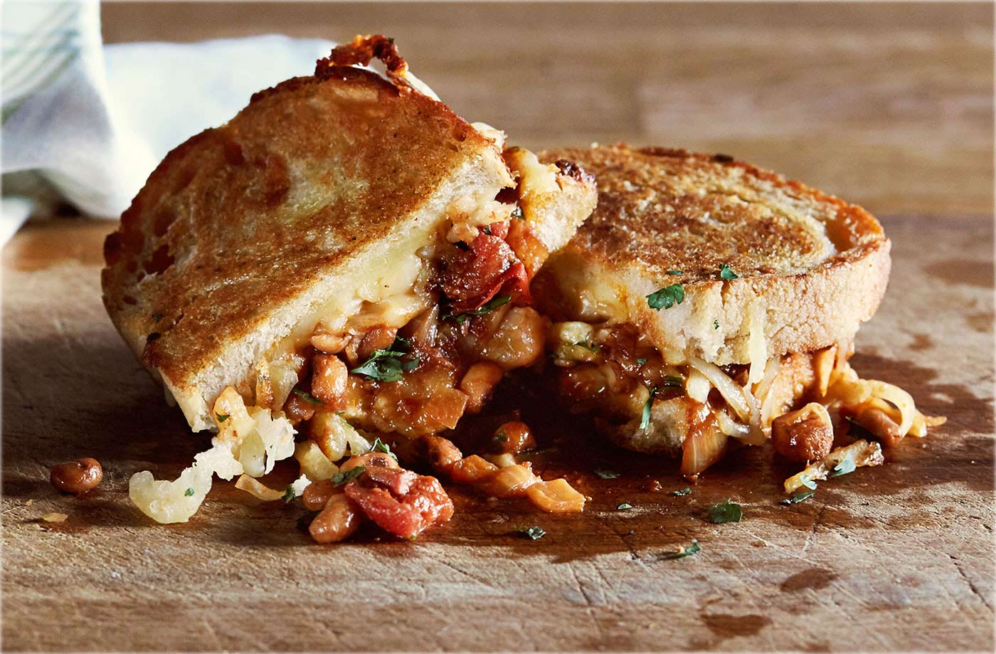 Boston bean Cheddar cheese toastie recipe