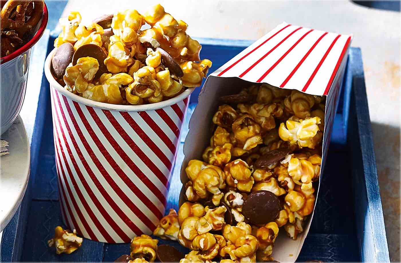 Cinder toffee and chocolate popcorn recipe