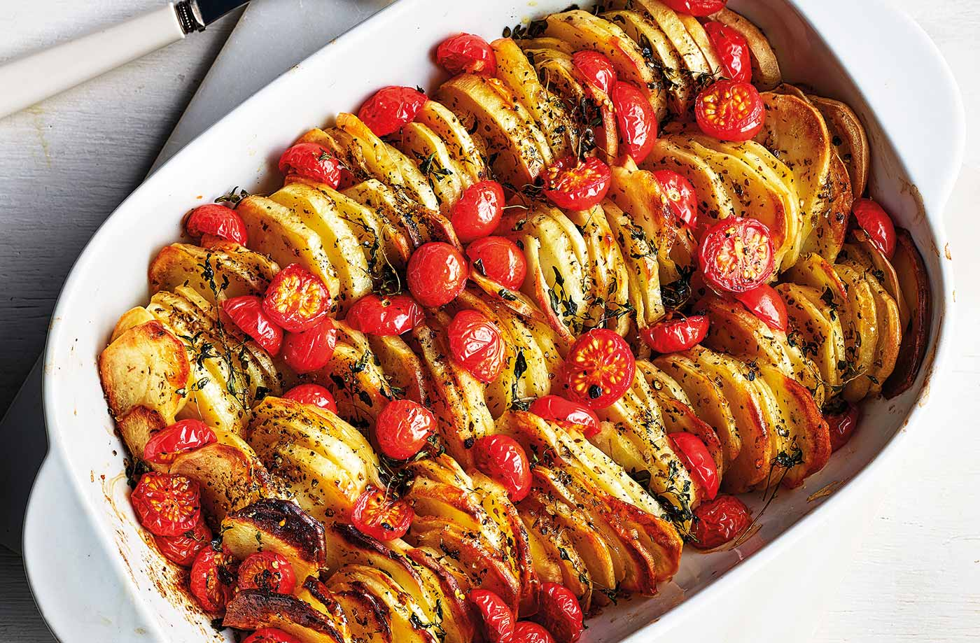 Tomato and oregano potato bake recipe