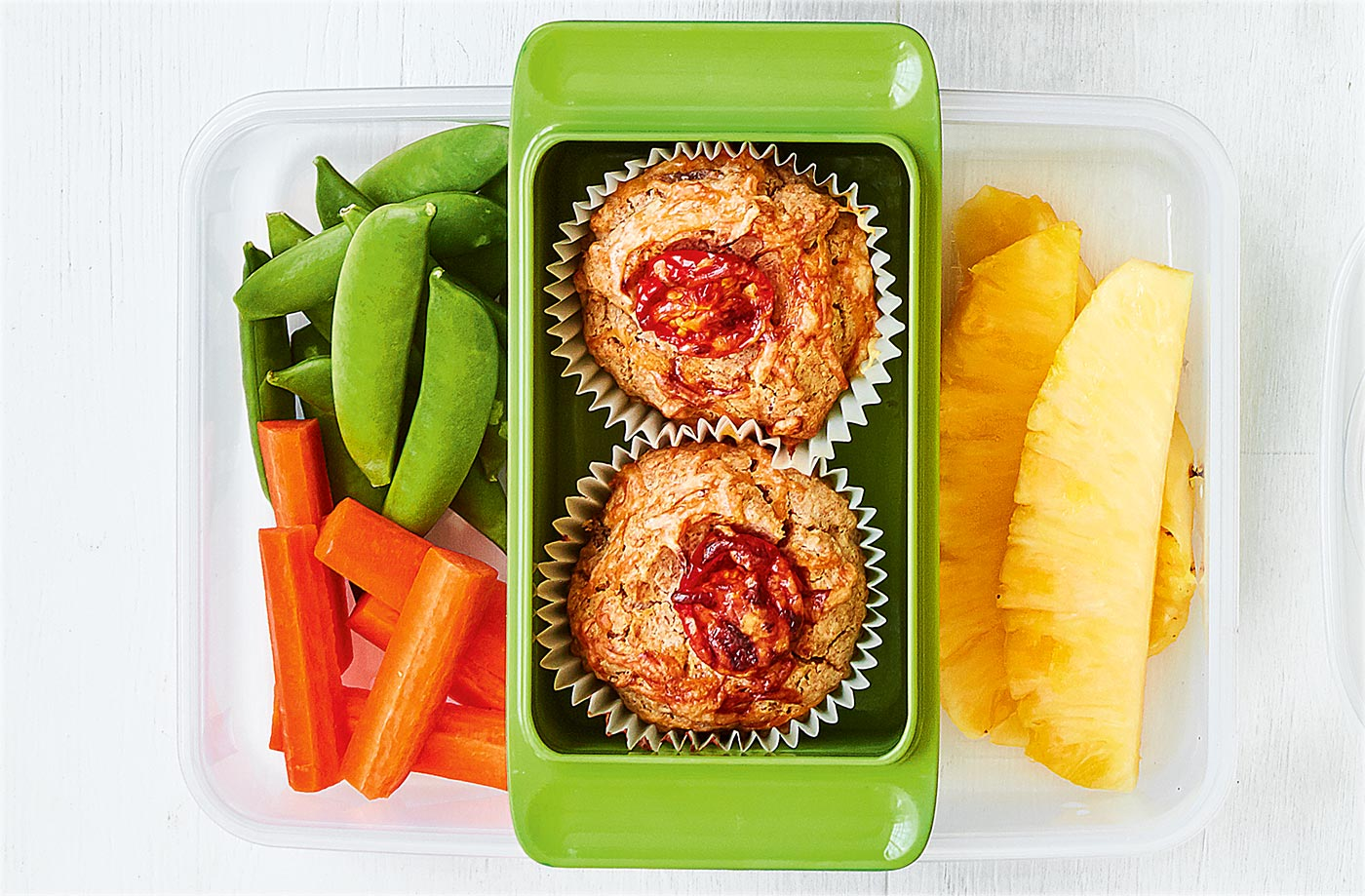 Tomato and bacon muffins