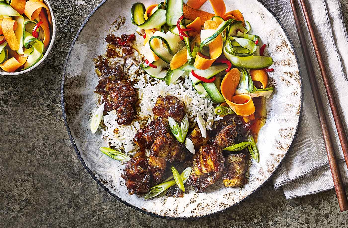 Vietnamese caramel pork with pickled veg recipe