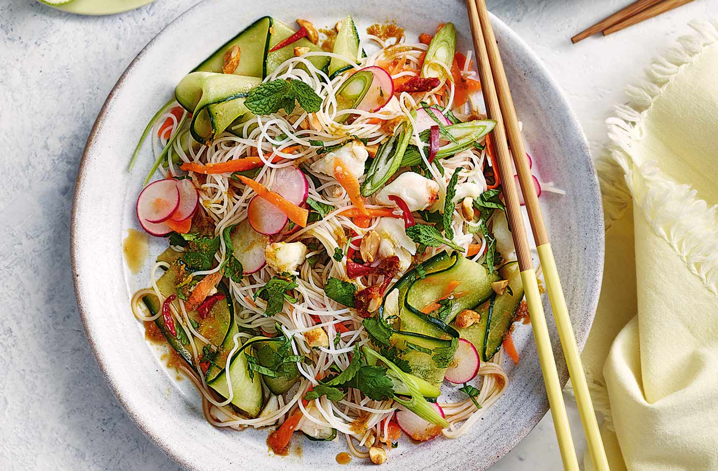 Vietnamese-style crab and noodle salad recipe