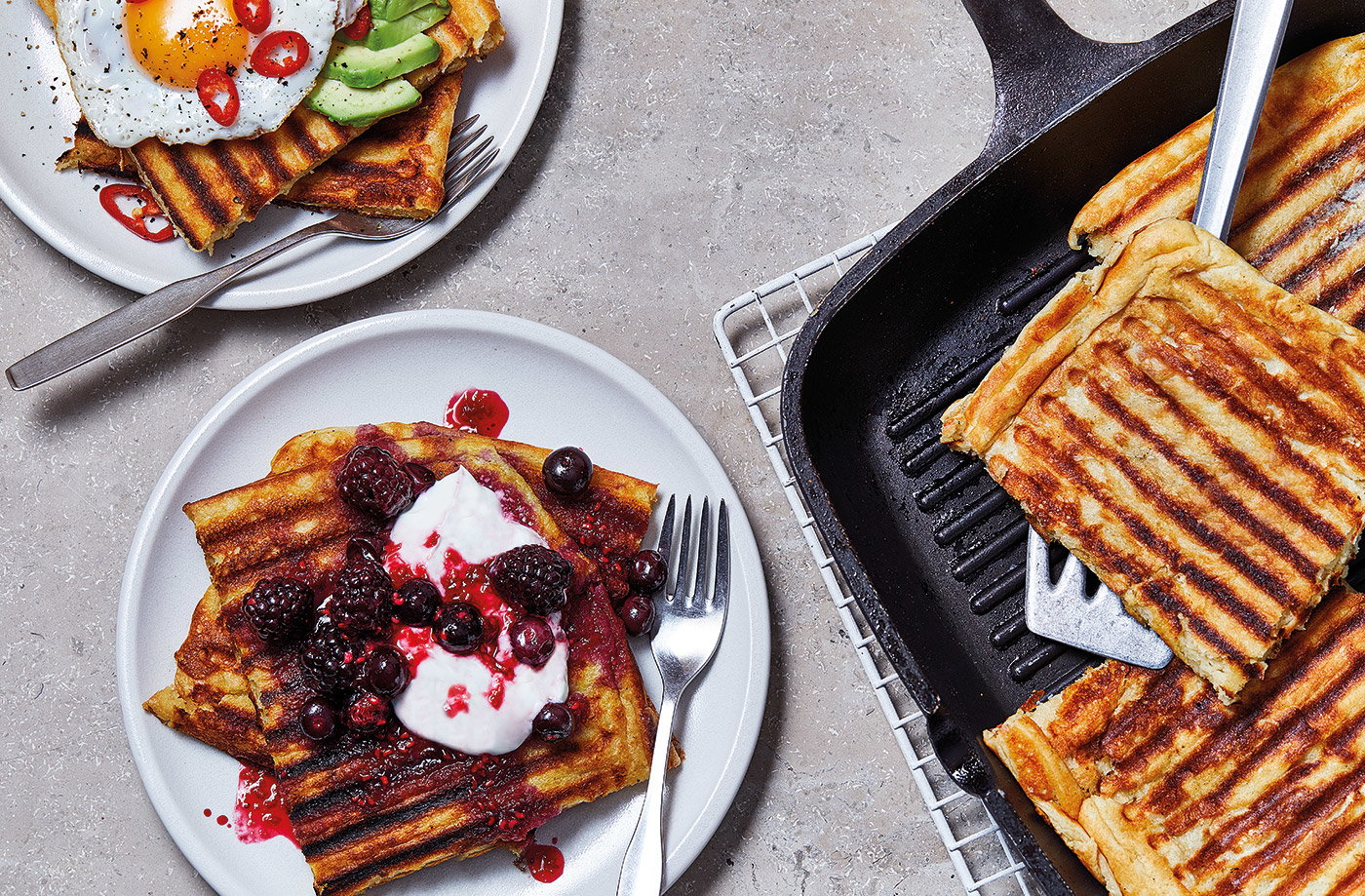 Easy griddled waffles recipe