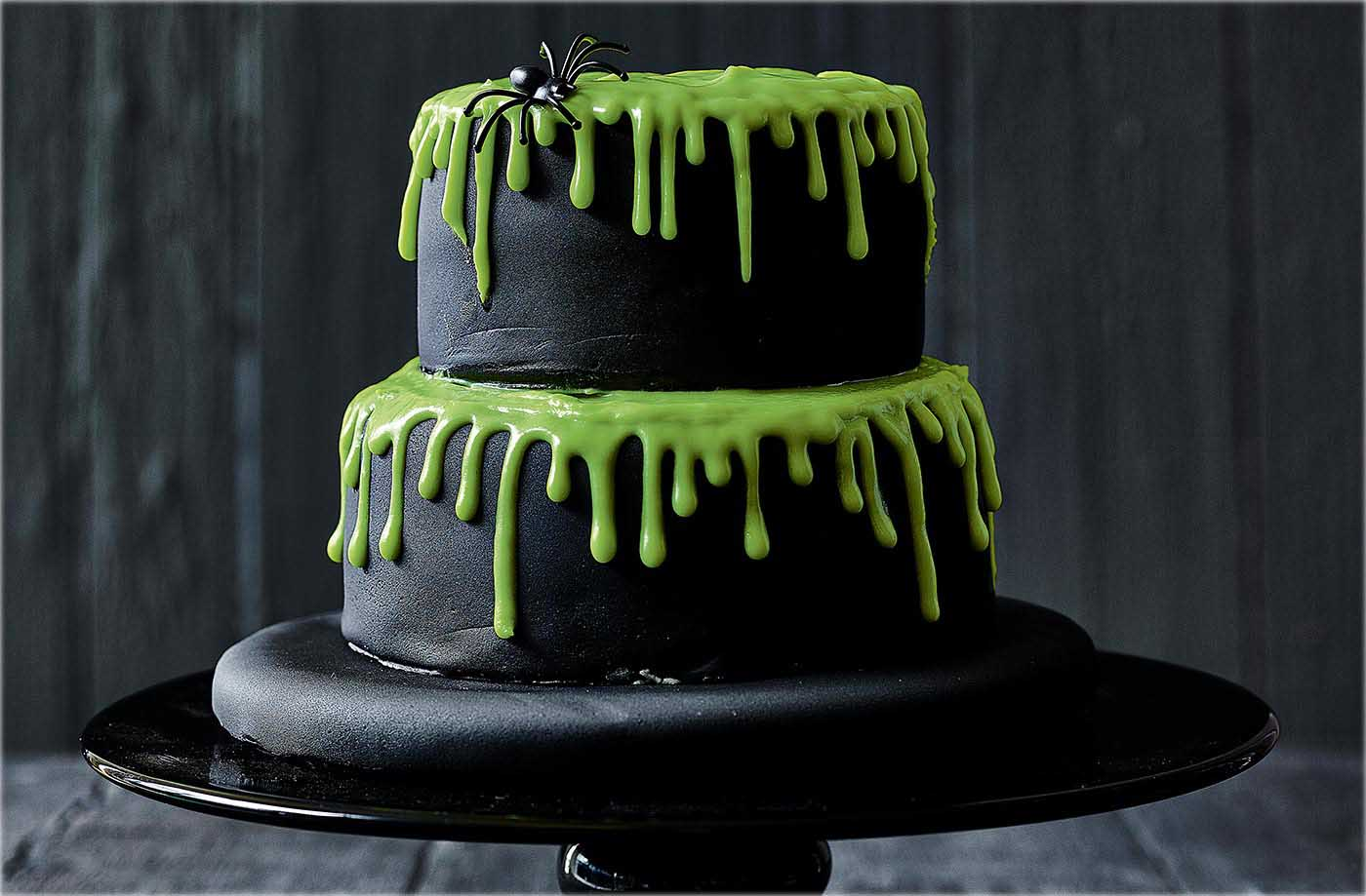 Dreadful Drip Cake Recipe Halloween Cakes Tesco Real Food