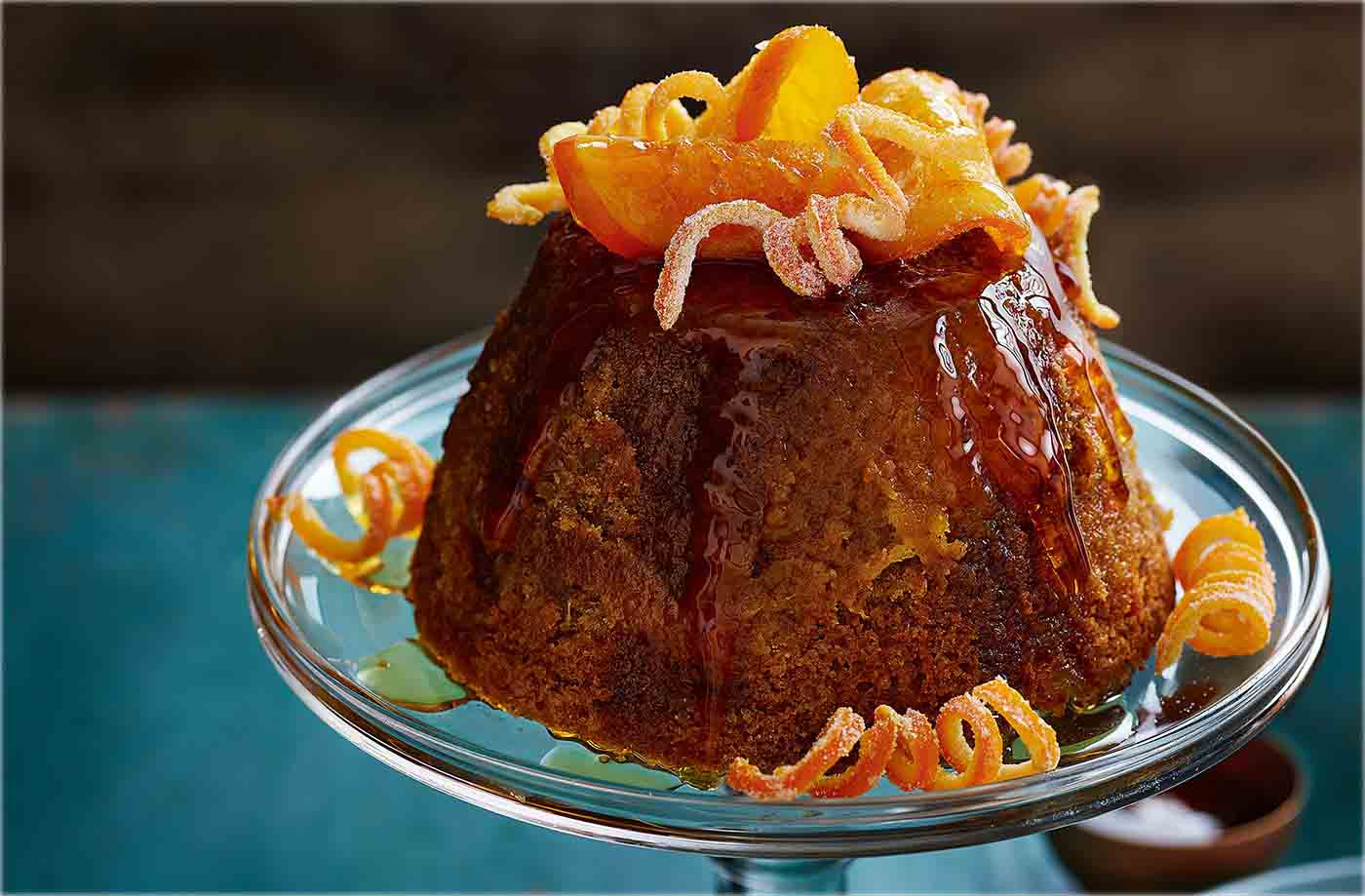 Orange, clove and ginger treacle sponge recipe