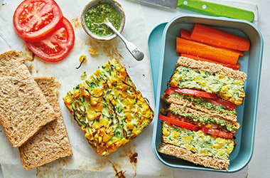 Courgette frittata sandwiches