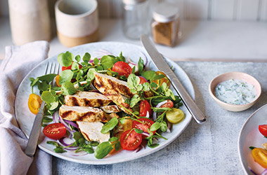 Garam masala chicken salad