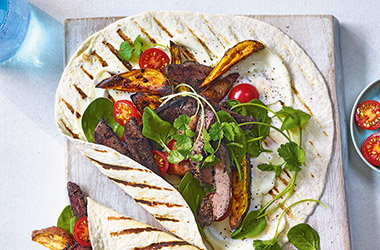 Piri-piri chicken liver wraps