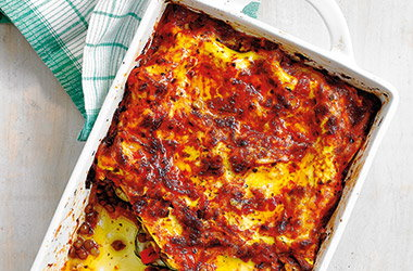 Roasted ratatouille lasagne