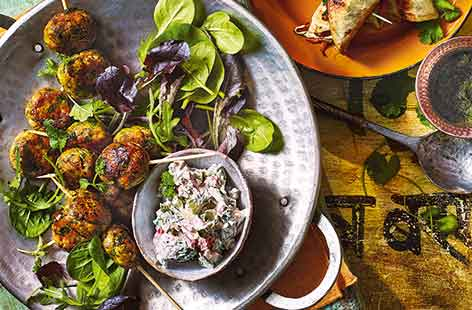 Be inspired by the flavours of India with these easy fish kebabs that can be ready and on the table in just 25 minutes