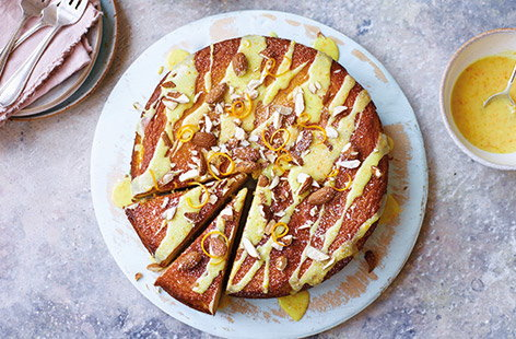 Whole orange and almond cake