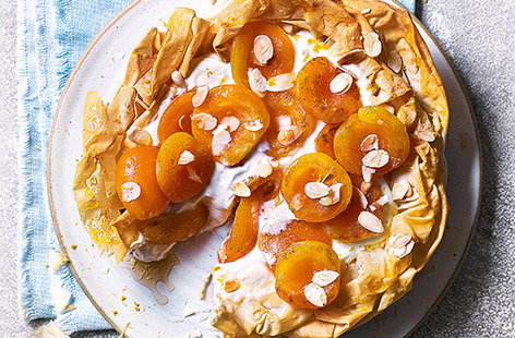 Apricot and orange blossom honey tart