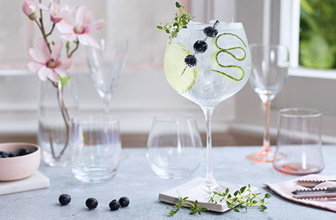 Sparkling gin cocktail