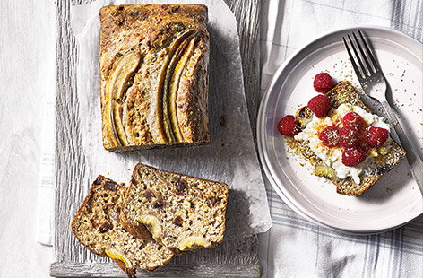 Banana breakfast loaf