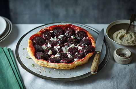 Beetroot and goat's cheese tarte tatin
