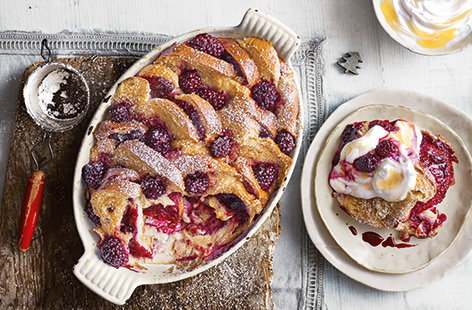Kick start Christmas Day with a fruity breakfast bake that's great for feeding the whole family.