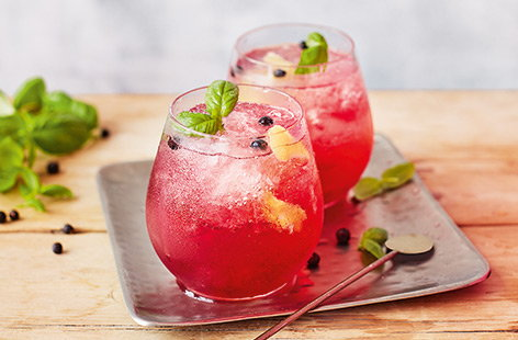 If you love a gin and tonic, you'll adore this fruity gin cocktail recipe. Bramble jelly, lemon, juniper and basil add plenty of flavour to a classic g&t for a fabulous summer thirst quencher.