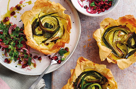 These pretty tartlets make a great starter for a get-together dinner, or lovely lunch for an extra special gathering with friends