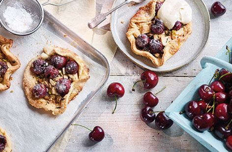 Cherry and thyme galettes