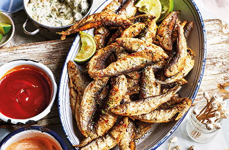Chilli and lime whitebait