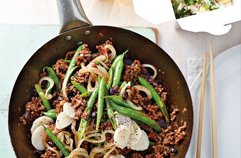 Chilli beef and bean stir-fry