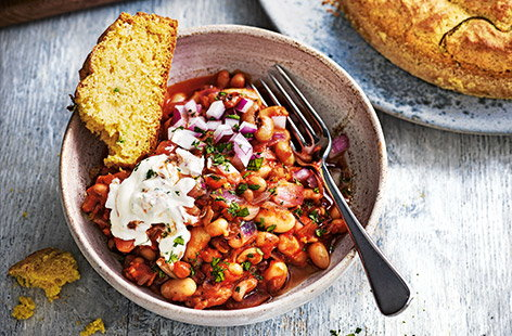 Cooking delicious family meals doesn't have to break the bank – this vegetarian chilli makes the most of storecupboard ingredients to keep the cost down without compromising on taste