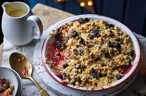Christmas pudding crumble