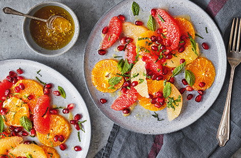 Clementine, pomegranate and grapefruit salad