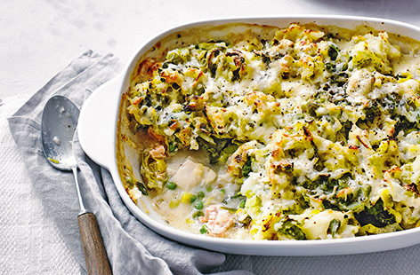 Merge together two classic dishes with this colcannon fish pie recipe