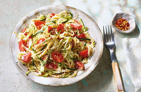 Courgette, ricotta and chilli spaghetti