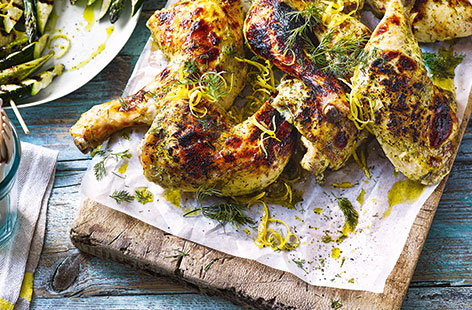 Chicken is essential when you're having a barbecue, and these tender, herby buttermilk legs will be popular with everyone. They're quick and simple to make, too.