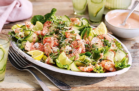 Fiery prawn cocktail salad