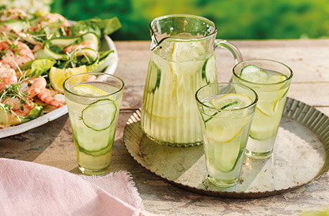 Make a classic gin and tonic even better with this floral elderflower and lemon twist. This refreshing and easy cocktail is perfect for sharing on a hot summer's day – just serve chilled with classic cucumber and lemon to garnish.