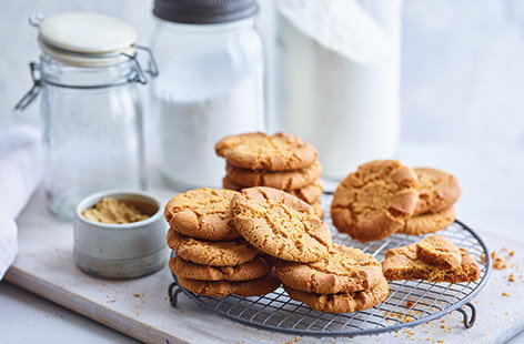 Fiery ginger nut biscuits are a staple of the biscuit tin and are super-easy to bake at home yourself – you could even get the kids involved for a fun half-term baking project. These simple biscuits are crisp on the outside and slightly chewy in the middle