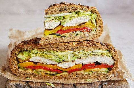 Griddled chicken and avo sarnie