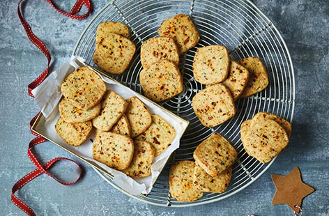 Manchego and chilli shortbreads