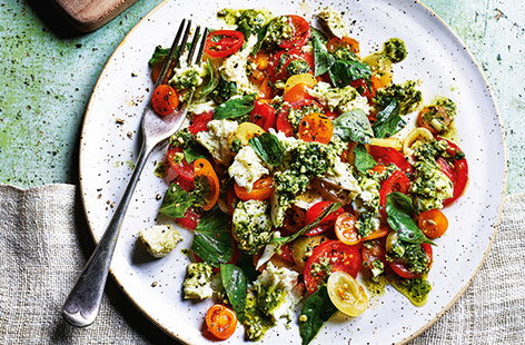 Marinated mozzarella salad
