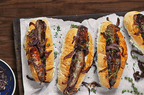 Revamp bonfire night hot dogs with a sticky-sweet orange glaze, made using zingy marmalade, punchy mustard and fresh garlic.