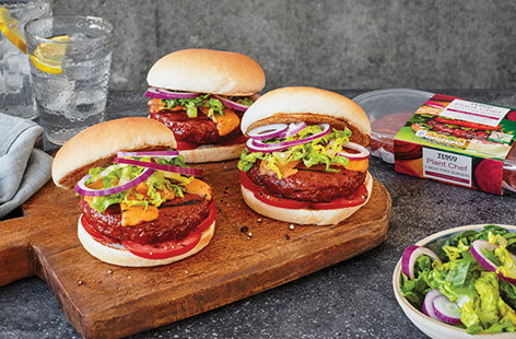 Meat-free burgers