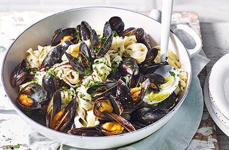 Enjoy a taste of the sea with flavour-packed mussels recipes, from paellas and stews to simply steamed.