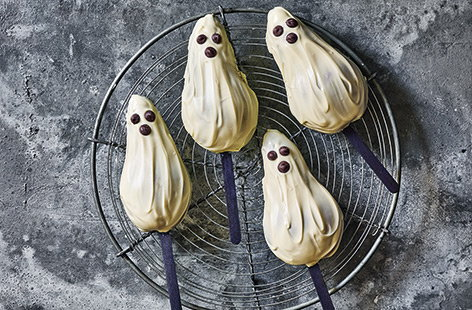 Chocolate pear ghosts