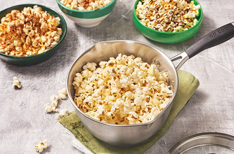 Once you've mastered popping plain popcorn, you can experiment with flavours ready for your next movie night