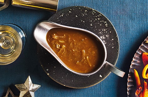 Porcini mushrooms have a distinct nutty flavour, which adds an earthy richness to this easy onion gravy
