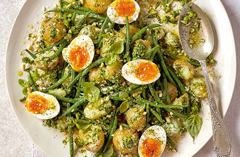 Jamie Oliver says, 'When the sun shines, pack up a picnic and head to the closest patch of grass with this next-level potato salad.'