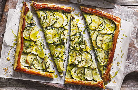 Potato and courgette tart