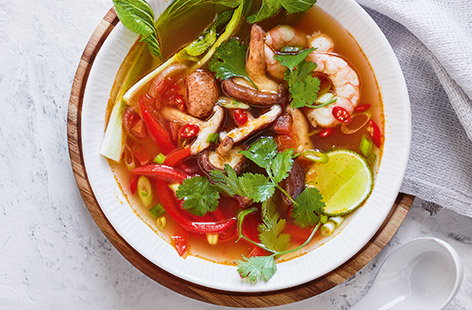 Let this colourful, fragrant tom yum soup recipe transport you to Thailand