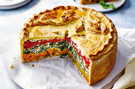 Rainbow picnic pie