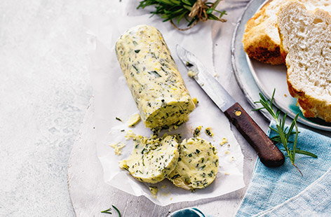 Rosemary, lemon and roasted garlic butter